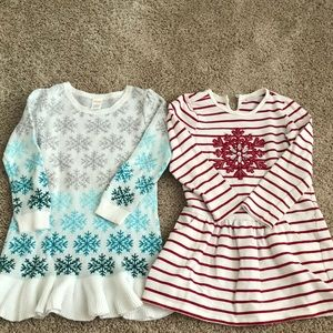 Gymboree winter themed dresses